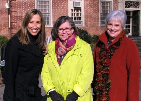 Ms.Michelle Kriebel with Ms. Sheila Reilly, and Ms. Mitzi Arena (left to right)